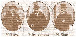 Die 3 Firmengründer 1905 - 1908