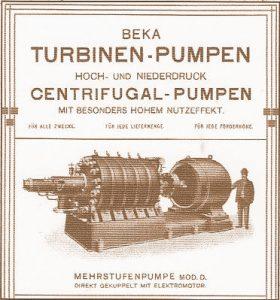 Anzeige für Turbinenpumpen